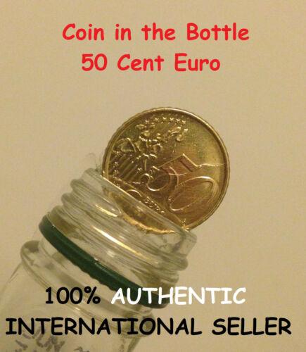 Magic Coin in Bottle 50 cent Euro Folding Coin 50 cent Euro