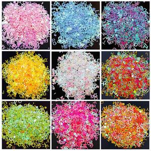 8g-Holographisch-Alphabet-Pailletten-Glitter-Harzfuellung-DIY-Schmuckherstellung