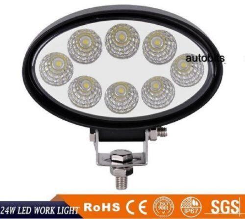 24 W 10-30 V 3 W x8 DEL Projecteur de Travail Phares ovale automatiques éclairage