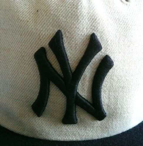 cd16f6c1edd 5 of 7 NY NEW YORK YANKEES  47 Brand CAPTAIN Adjustable Snapback Hat Tan  Navy MLB