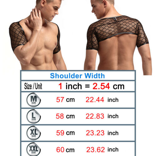 Men Mesh T-Shirt See-through Underwear GYM Tank Top Undershirt Pyjamas Trunks
