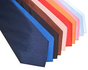 Klassische-Seide-Krawatte-Schlips-Schwarz-Weiss-Rot-Blau-Uni-AUSWAHL-23-Farben