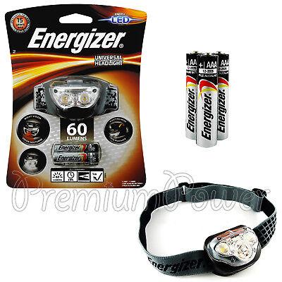 Energizer Vision Headlight 100 Lumens LED Headlamp Head Torch 3 AAA Batteries
