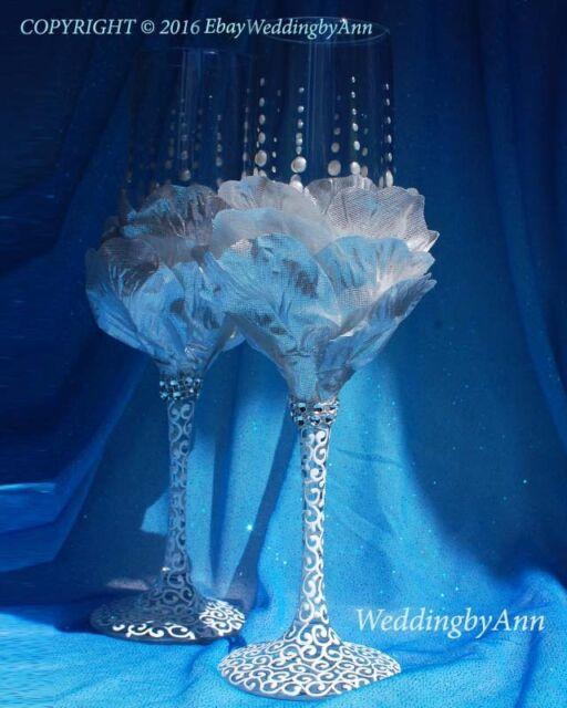 Wedding flutes, Wedding Champagne Glasses,Wedding Toasting Flutes, Set of 2