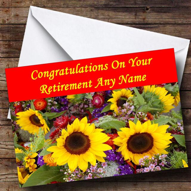 sunflowers personalised retirement greetings card ebay