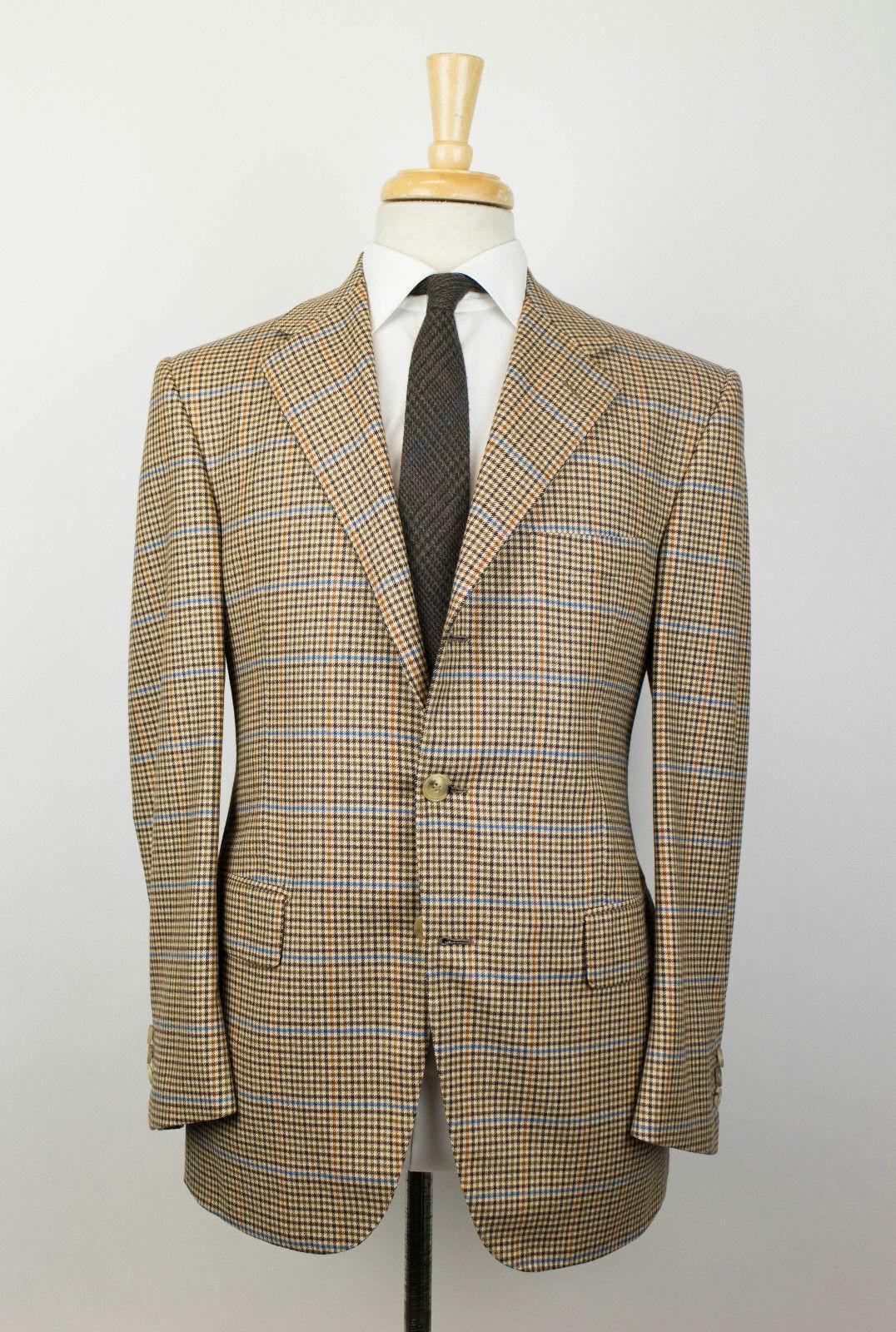 New D'AVENZA braun wolle3 Roll 2 Button Sport Coat Blazer 50 40 R Drop 3  2995