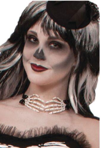 Femmes Mains Squelettes Halloween Déguisement Costume Tenue Collier Ras de Cou