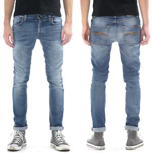 Nudie-Herren-Slim-Fit-Stretch-Jeans-Hose-Grim-Tim-Orange-Cloud-W29-L34