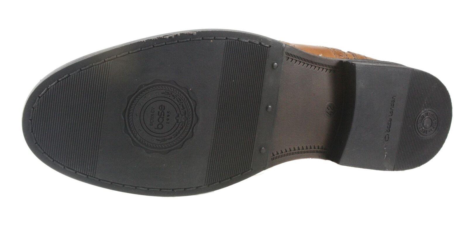 Base london hellbraun schwarz Halbschuhe zum Schnüren Leder Leder Leder Herren 31a2f6
