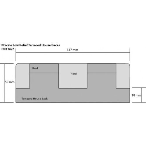 n Karte Set Metcalfe PN177 Niedrig Relief Reihenhäuser Haus Rückseiten Stein