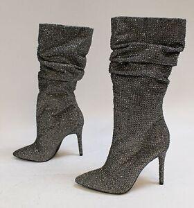 Jessica Simpson Women/'s Layzer Embellished Stiletto Boots Black