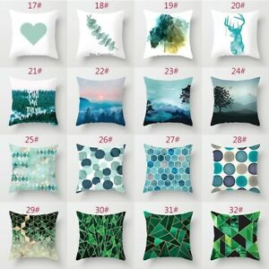 PW-Mountain-Wave-Tree-Square-Pillow-Case-Cushion-Cover-Art-Sofa-Home-Decor-Ey