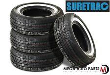"4 X New Suretrac Power Touring 195/75R14 92S 1"" WW All Season Performance Tires"