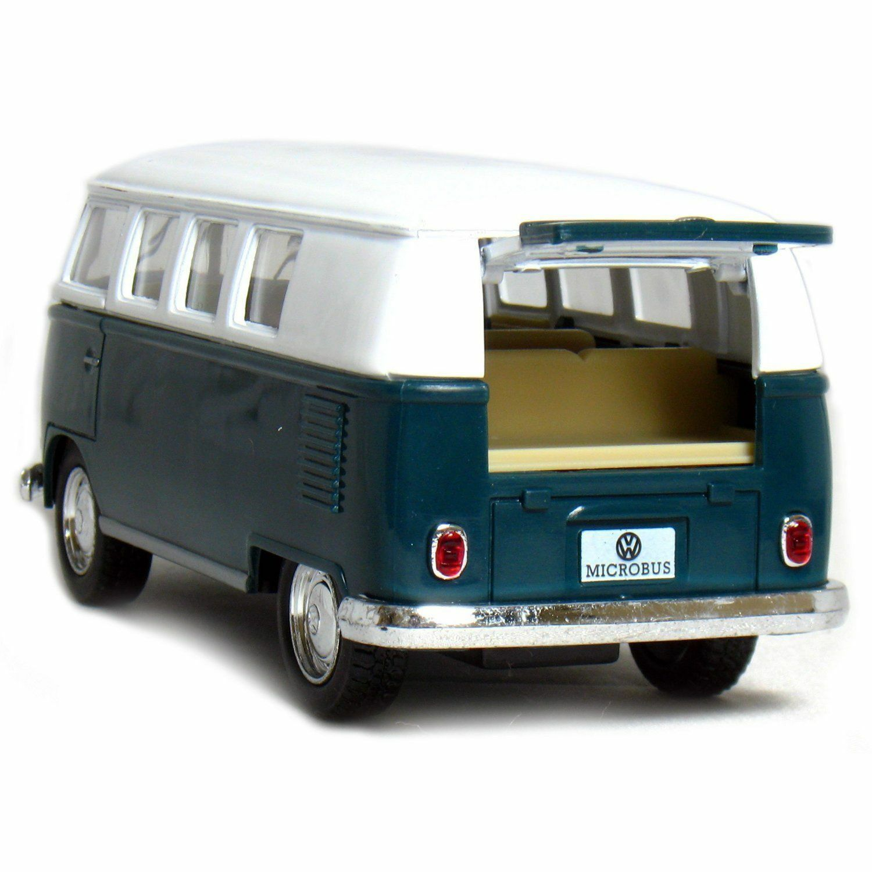 """Green 5/"""" Kinsmart Classic 1962 Volkswagen Bus Van Diecast Model Toy 1:32 VW"""