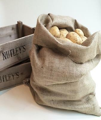 Nutley's large 50 x 80cm hessian potato sack bag 7oz grade store vegetables