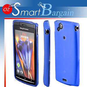 BLUE-Soft-Gel-Case-For-SONY-ERICSSON-XPERIA-ARC-X12