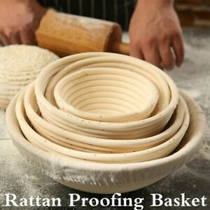Bread Proofing BASKET Banneton Brotform Dough Rising Rattan Basket Round OvalNEW