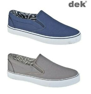 Mens Canvas Boat Yachting Deck Shoes