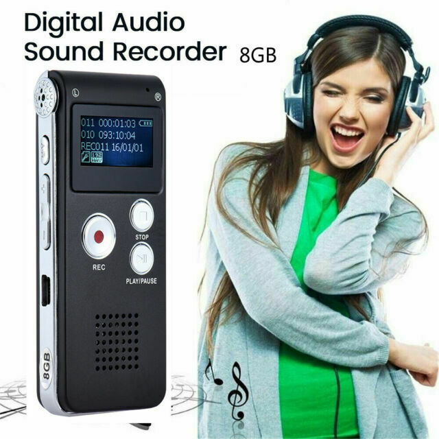 Mini Spy Audio Recorder Digital Voice Activated Listening Device Lecture Mp3