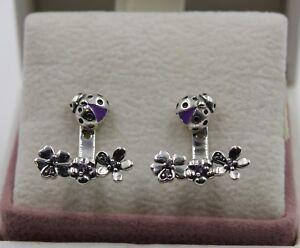 83e0fdc03c7a1 AUTHENTIC PANDORA Ladybird Meadow Stud Earrings 297123NLC #1418 | eBay