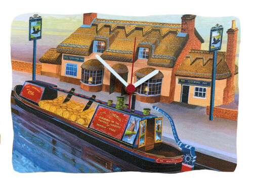 Canal Boats Canal Boat Clock Norfolk Broads Canal Boat Gift  N9-C
