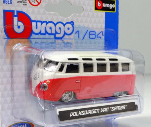 VW Volkswagen Van Samba Maßstab 1:64 von bburago