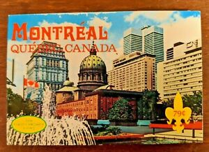 Montreal-Quebec-Canada-Vintage-Souvenir-Photo-Book-Plastichrome-10-Views