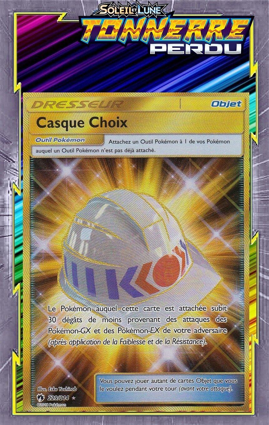 Casque choix geheimnis - sl08  tonnerre oui - 229   214 - carte pokemon - fran ç aise