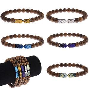 Fashion-Sacred-Arrow-Wooden-Beads-Energy-Yoga-Women-Men-Bracelets-Jewelry-Gifts