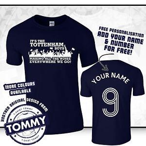 SPURS-T-shirt-c-039-est-le-Tottenham-garcons-partout-ou-nous-allons-Coys-Spurs-tee-bleu