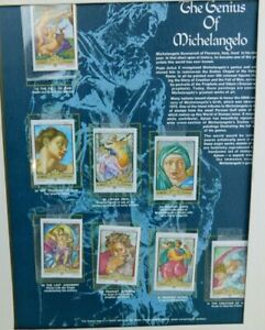 World of Stamps The Genius of Michelangelo The Fall of Man and others