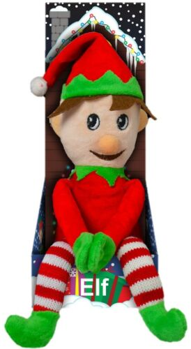 49cm Cute Christmas Plush Elf With Hat Stocking Filler Christmas Decoration