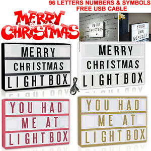 Vintage-Style Cinema Box EXTRA LETTER PACKS FOR CINEMATIC LIGHT-UP SIGN Gift