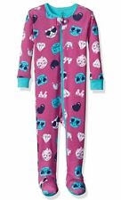Pale Yellow Cat Fleece Footed Pajamas for Baby and Toddler Girls Blanket Sleeper