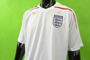 58ed0293be3 2007-09 UMBRO England Home Shirt EURO 2008 SIZE XL (adults ...