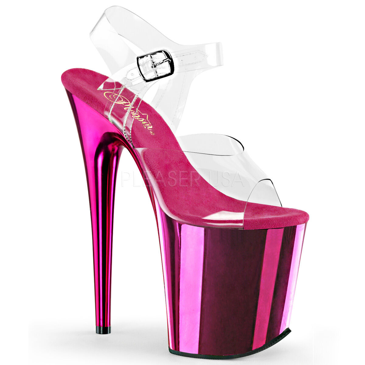 Pleaser Flamingo-808 Schuhes Schuhes Schuhes Platform Sandales High Heels Ankle Strap Pole Dancing 384117