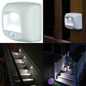 Wireless motion sensor led light indoor outdoor security stair step image is loading wireless motion sensor led light indoor outdoor security mozeypictures Images