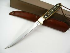 SCHRADE Uncle Henry Staglon SMALL FILLET Fixed Blade Fish Knife + Sheath! 168UH