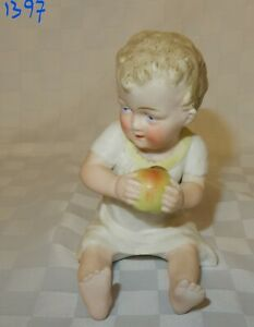 Vintage-Hand-Painted-Bisque-Porcelain-Piano-Baby-1397