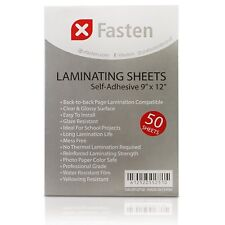 XFasten Self-adhesive Laminating Sheets 9 X 12 Inches 50-pack