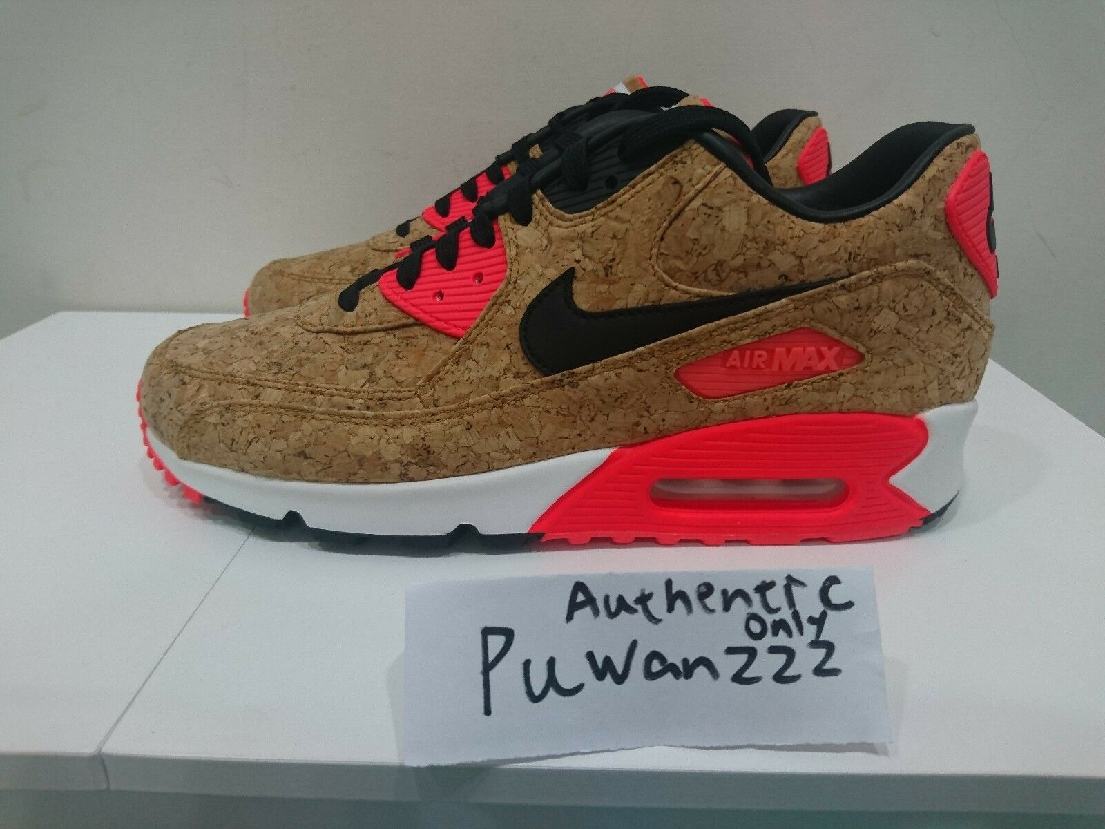 DS 2015 Air Max 90 CORK AUTHENTIC ONLY Brons / Svart-Infraröd-Vit 725235-706