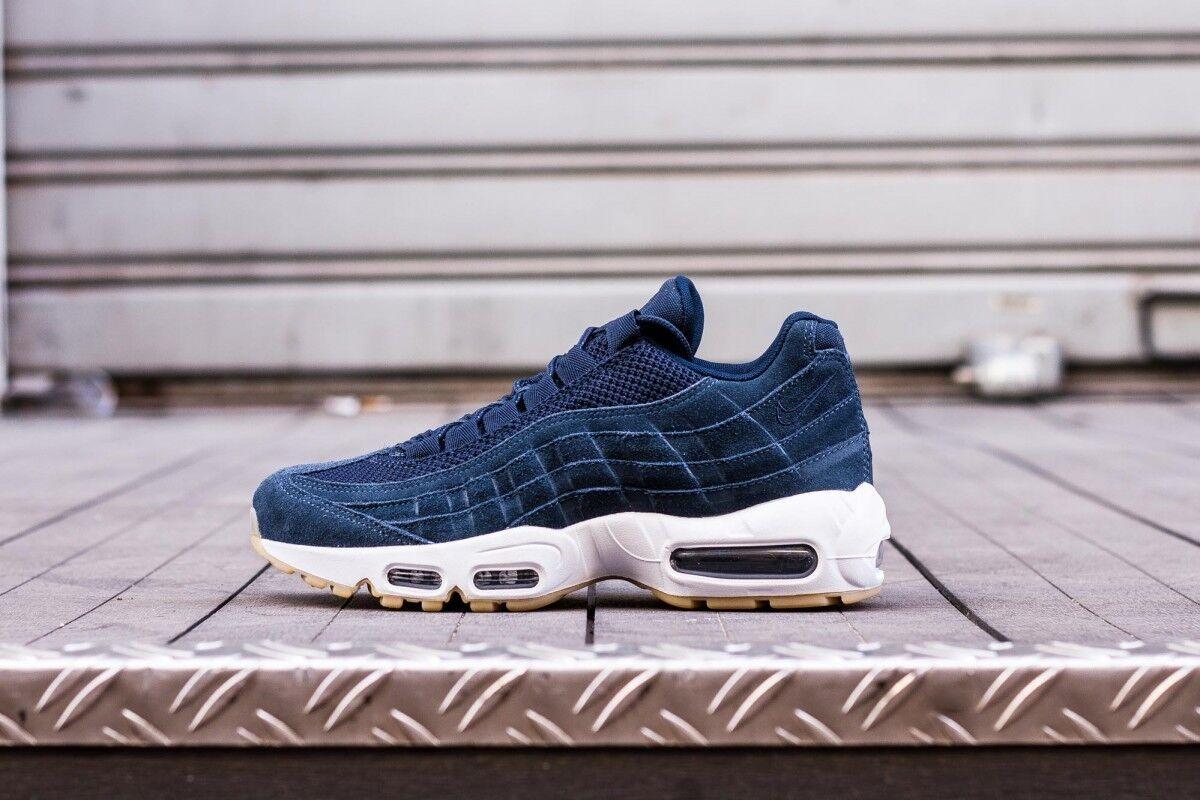 Herren Nike Air Max 95 Premium 538416-402 Blau Schuhe Neu Gr.40