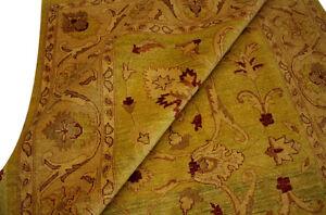 Tapis-ZIEGLER-Pakistan-302x197-cm-100-laine-noue-a-la-main-Jaune-tons-verts