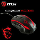 New MSI Red LED Gaming Mouse III - Dragon Edition 6400DPI 1ms Precision Tracking