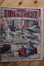 Rarissime L' OEIL DE LA POLICE 3A/58 Les Victimes des Inondations