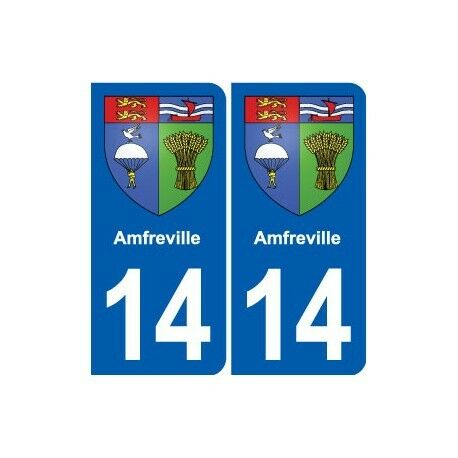 14 Amfreville Blason Ville Autocollant Plaque Sticker Het Verstrekken Van Voorzieningen Voor Het Volk; Het Leven Gemakkelijker Maken Voor De Bevolking