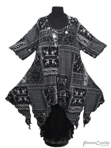 PoCo DeSiGn LAGENLOOK Tunika Long-Shirt Kleid L-XL-XXL-XXXL 44 46 48 52 54 56 58
