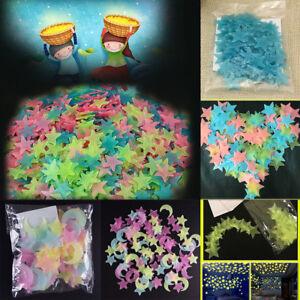 100-un-3D-estrellas-brillan-en-la-Oscuridad-Luminosa-Fluorescente-Pegatinas-De-Pared-Decoracion-De