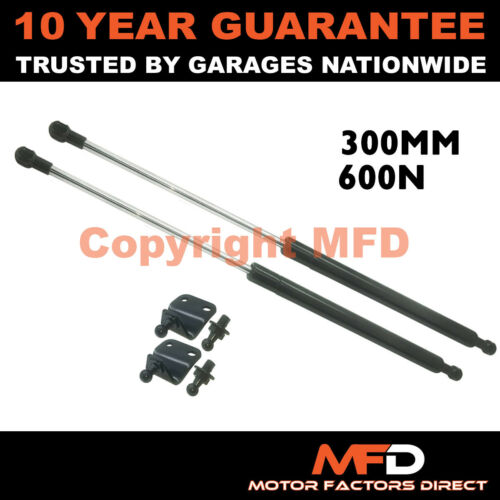 2X UNIVERSAL GAS STRUTS SPRINGS KIT CAR OR CONVERSION 300MM 30CM 600N /& BRACKETS