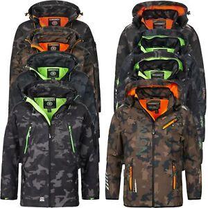 Geographical-Norway-Camouflage-Herren-Softshell-Funktions-Outdoor-Regen-Jacke